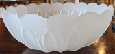 """Scallop Glass Torchiere Shade White or Beige 16""""W - Sale !"""