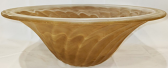 """Amber Glass Torchiere Shade 13""""W - Sale !"""