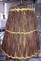 "Small Clip On Twigs Lamp Shade 8""W"