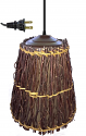 "Small Twigs & Linen Swag Lamp 8""W"
