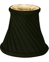 "Black Twist Chandelier Shade 5""W - Sale !"