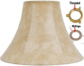 """Leather Look UNO Lamp Shade 12""""W - Sale !"""