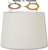 "Linen Drum Uno Lamp Shade Cream, White 13""W"