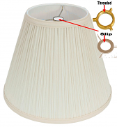 "Mushroom Pleated UNO Lamp Shade 12""W - Sale !"