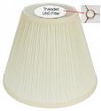 "Mushroom Pleated UNO Floor Lamp Shade Cream or White 12""W"