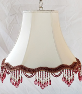 "Scallop Bell Victorian Lamp Shade Beads or Fringe 10-18""W"