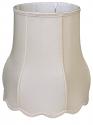 "Victorian Scallop Silk Drum Lamp Shade Cream, White 12-20""W"