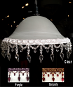 """Victorian Alabaster Glass Swag Lamp 13-16""""W"""