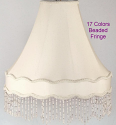 "Gallery Bell Victorian Lamp Shade 17 Bead Colors 14-20""W"