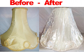 Victorian Lamp Shade Recover