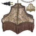 "Victorian Swag Lamp Mocha or Champagne 19""W"