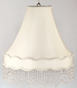 """Victorian Gallery Bell Swag Lamp 17 Beaded Fringe Colors 14-20""""W"""