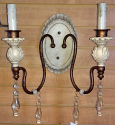 "Victorian Ivory Wall Sconce Light 15""W - Sale !"