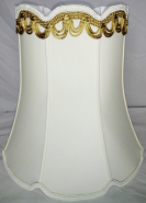 """Victorian V Notch Bell Drum Lamp Shade 14-18""""W"""
