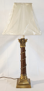 "Vintage Antique Brass Lamp 30""H"
