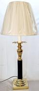 "Vintage Brass Candlestick Lamp 31""H"