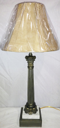 "Vintage Bronze & Marble Lamp 25""H"