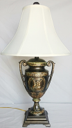 "Bronze Vintage Cherubs Lamp 27""H"