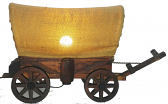 "Vintage Covered Wagon Lamp 12""H x 22""W"