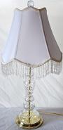 """Vintage Mid Century Crystal Lamp 26""""H"""