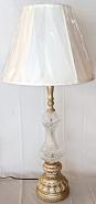 """Tall Vintage Crystal Lamp 33""""H"""