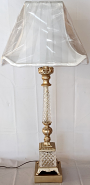 """Slender Vintage Crystal Lamp 33""""H"""
