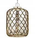 "Vintage Glass & Fish Net Pendant Light 10""Wx15.5""H - Sale !"