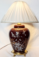 """Beet Colored Glass Lamp 23""""H"""