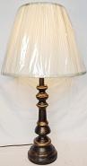 "Bronze & Gold Lamp 30""H"