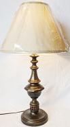 "Bronze & Aged Copper Lamp 25""H"