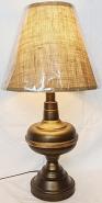 "Bronze Lamp w/Font Body 24""H"