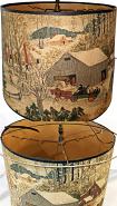 Vintage Paper Lamp Shade Repair