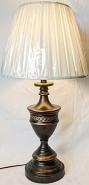 "Bronze Lamp w/Pierced Body 27""H"