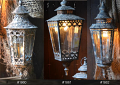 "Vintage Victorian Lantern Pendant Lights or Swag Lamps 10""Wx25""H"
