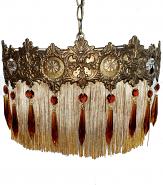 "Victorian Hollywood Regency Swag Lamp 15""W"