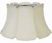 "V Notch Silk 6 Way Floor Lamp Shade Cream, White 17-19""W"