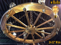 "Wagon Wheel Chandelier 24-32""W"