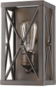 "Brooklyn Oil Rubbed Bronze Industrial Wall Sconce Light 5""Wx10""H"