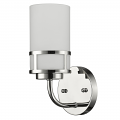 """Alexis Polished Nickel Glass Drum Sconce 5""""Wx10""""H"""