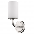 "Addison Satin Nickel Glass Shade Sconce 5""Wx11""H"