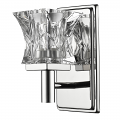 "Arabella Polished Nickel Crystal Wall Light 4""Wx8""H"