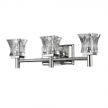 "Arabella Polished Nickel Crystal Wall Light 21""Wx6""H"