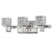 """Caralie Polished Nickel Crystal Wall Light 18""""Wx6""""H"""