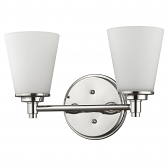 """Conti Polished Nickel Wall Light Glass Shade 15""""Wx10""""H"""