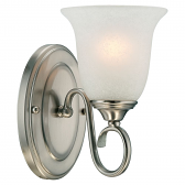 "Nickel Sconce Light India Scavo Glass 5""Wx9""H"