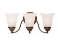 """Bronze Bathroom Wall Light Alabaster Bell Glass 30""""x8""""H"""