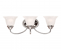 "Chrome Bathroom Wall Light Champagne Glass 22""Wx8""H"