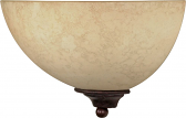 """Tapas Old Bronze Suede Glass Sconce Light 12""""Wx7""""H"""