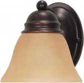"""Empire ORB Bronze Sconce Light Champagne Glass Shade 6""""Wx6""""H"""