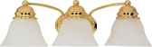 """Empire Polished Brass Wall Light Alabaster Glass 20""""Wx6""""H"""